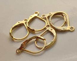 Argentina ¡¡Envío gratis!! 200pcs / lot Nickel Free Gold Plated Lever volver Earing encontrar 16x10mm / HOT Sale / HI-Q Suministro