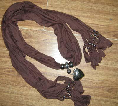 Color liso colgante bufanda cuello bufandas joyería COLLAR PENDANTSCARF 14 unids / lote # 1738