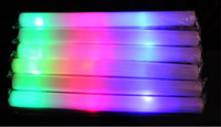 Vente en gros - Rainbow Flash Sticks Coloré Concert STICK LED mousse éponge mousse glow bâtons
