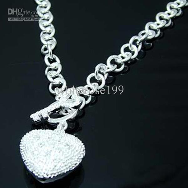 Vente en gros - Prix de détail le plus bas cadeau de Noël 925 argent mode bijoux livraison gratuite Collier N73