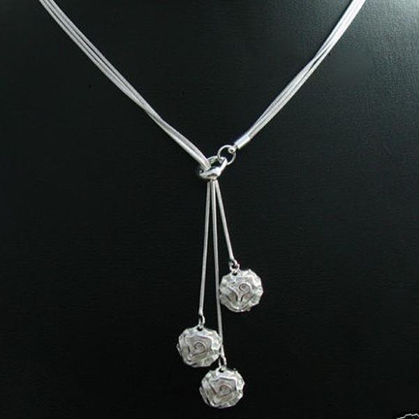 Hurtownie - Detaliczna Najniższa cena Boże Narodzenie Prezent 925 Srebrny Biżuteria Darmowa Wysyłka Naszyjnik N83