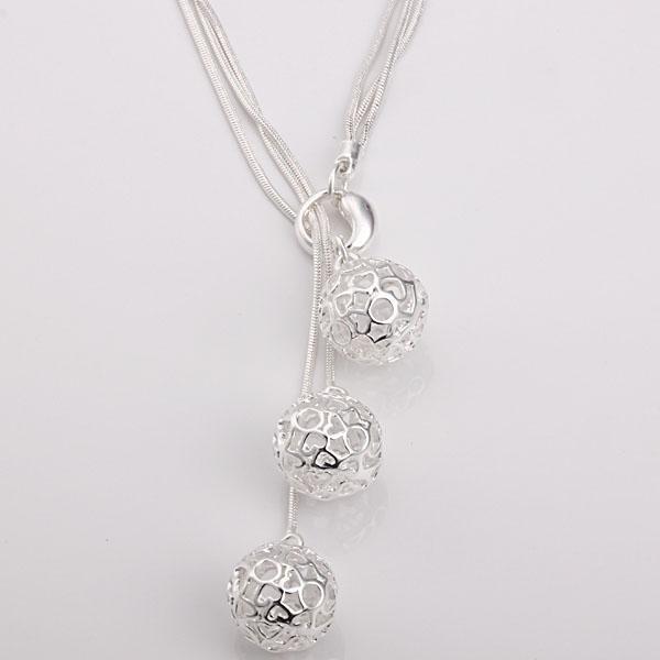 Al por mayor - El precio bajo al por menor regalo de Navidad 925 joyas de plata de moda envío gratis Collar N85