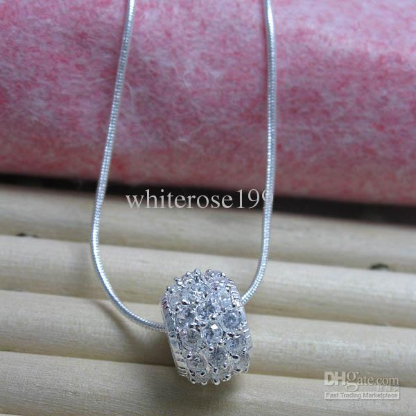 Wholesale - Retail lowest price Christmas gift 925 silver fashion Jewelry Necklace N88