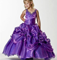 Wholesale Wedding Ball Gown Gold Accents - capped traps with beads flowers accented skirt 2012 fashion flower girl dresses F060