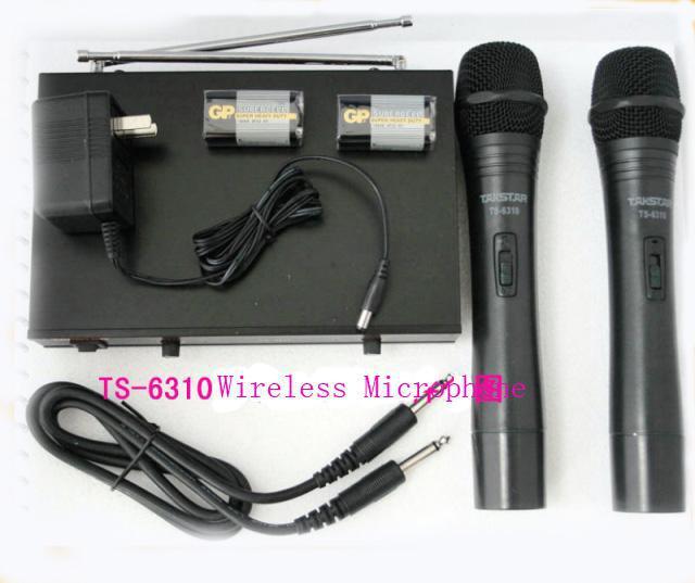 Sistema de micrófono inalámbrico de mano Takstar TS-6310 Tomados de la mano de un profesional minorista de empaques para el hogar y el rendimiento en el escenario