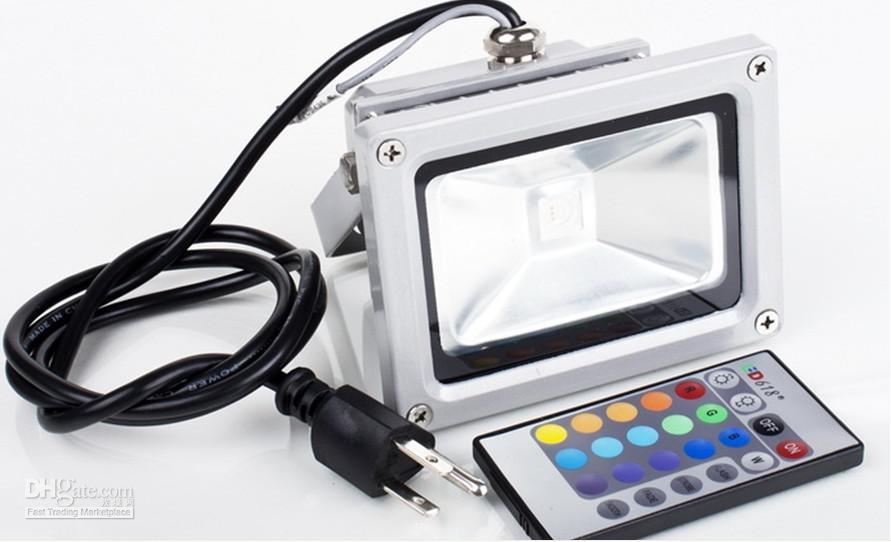 Impermeabile 10W RGB LED Flood Light + Telecomando L001