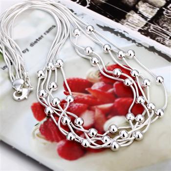 Wholesale  - 小売価格最低価格クリスマスプレゼント、送料無料、新しい925シルバーファッションネックレスYN213