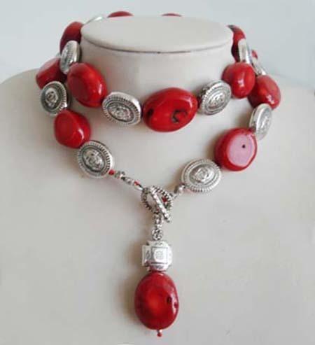 2018 beautiful tibet red coral pendant necklace from 2018 beautiful tibet red coral pendant necklace from kandengkuaishou 201 dhgate mozeypictures Images