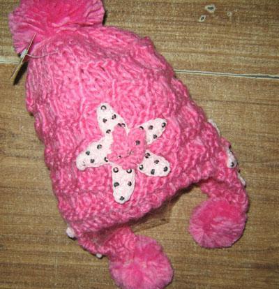 新しい到着手作りかぎ針編みビーニーハットキャップの女の子厚い女の子帽子20個/ロット混合スタイルの色#1548