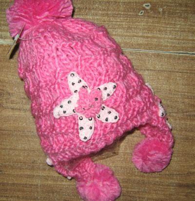 Nieuwe aankomst handgemaakte haak beanie hoed cap meisjes dikke meisje hoed 20 stks / partij gemengde stijl kleur # 1548