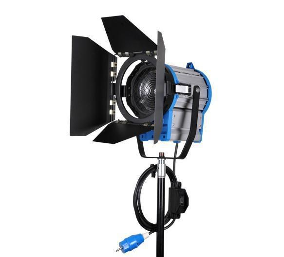 إضاءة مستمرة فيديو DV Studio Photo Fresnel Tungsten Light 1000W 1KW + لمبة GY22 + Barndoor عبر Free Fedex DHL