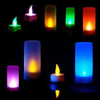 Wholesale 30pcs Voice activated LED color changing candle Lights Christmas gifts Valentine s Day gifts