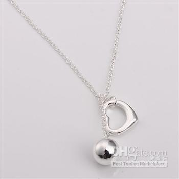 Toptan Satış - Perakende en düşük fiyat Noel hediyesi, ücretsiz kargo, yeni 925 gümüş moda Kolye N148