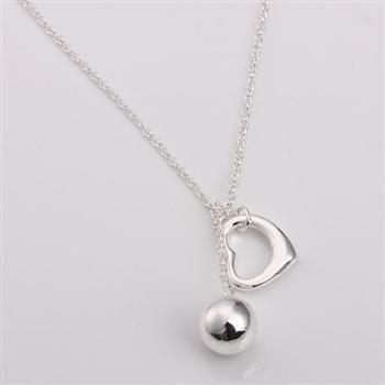 Venda por atacado - varejo menor preço presente de Natal, frete grátis, novo 925 prata moda colar N148