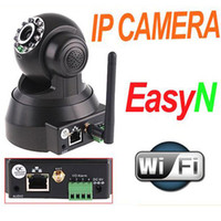 Wholesale Easyn Wireless Ip Camera Webcam - Wireless IP Camera webcam Web Camera Security System Wifi Network IR NightVision P T Rotation EasyN