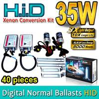 ingrosso h4 ha nascosto i kit di conversione-40 SET HID Kit di conversione Xenon H1 H3 H4 H7 H8 H9 H11 H13 HB1 HB3 HB4 HB5 9004 9005 9006 9007 Originali AC Normal Ballast 35W Alta qualità