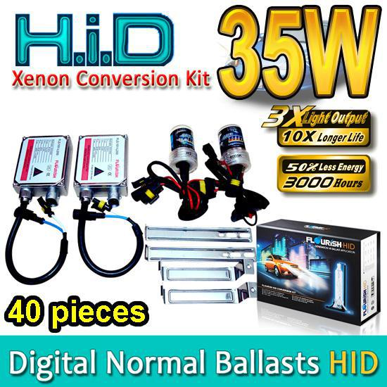 top popular 40 SETS HID Xenon Conversion Kits H1 H3 H4 H7 H8 H9 H11 H13 HB1 HB3 HB4 HB5 9004 9005 9006 9007 Genuine AC Normal Ballasts 35W High Quality 2019