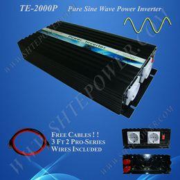 Onduleur de puissance sinusoïdale pure en Ligne-Alimentation électrique de secours, onduleur CC 24v à AC 240v, onduleur pur à onde sinusoïdale 2000w