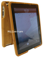 Wholesale Ipad Bamboo Cover - bamboo case cover shell housing for ipad 2
