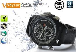 Wholesale Camera Usb Memory - new USB Spy Watch - 8GB Flash Memory Timepiece - Sports Spy Camera Watch With 8GB Memory USB Watch
