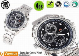Wholesale Watch Digital Video Camera - USB Watch 4GB 1280x960 Sport Watch Waterproof Surveillance Spy Watch Digital Video Recorder with Hidden Camera