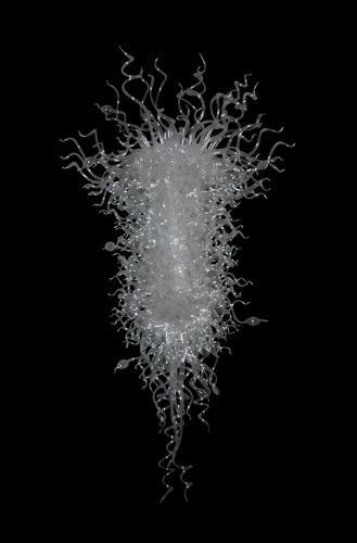 Lampadari Artistici Lampadari trasparenti trasparenti Bianco Bianco Borosilicato LED Handcraft Blown Vetro Lampadario Lampadario Illuminazione 48 pollici Long-Girban Brand