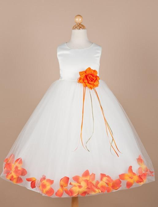 Satin and tulle floral accent flower girl dress blue flower girl satin and tulle floral accent flower girl dress blue flower girl dresses champagne flower girl dresses from yzs168 7129 dhgate mightylinksfo