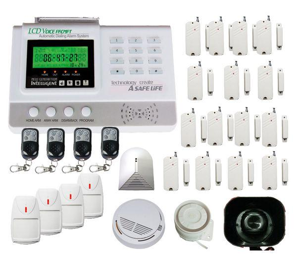 cheap zone auto dial burglar wireless home security alarm system kit pcs  door window sensors homealarm