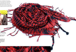 Wholesale Wholesale Arab Shemagh - good Quality!Unisex Arab Shemagh Keffiyeh Palestine Scarves Scarf Pashmina Wrap Stole Shawl Winter Accessories H061