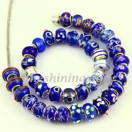 Wholesale Large European Glass Beads - European italian troll beads large hole biagi charm beads fits for charm bracelets