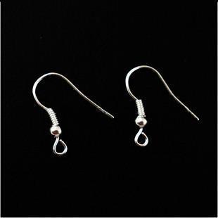 Vendita calda 500X placcato argento orecchino ami da pesca gioielli fai da te accessori orecchini gancio orecchio accessori le donne orecchini