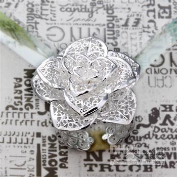 도매 - 소매 최저 가격 크리스마스 선물, 무료 배송, 새로운 925 실버 패션 반지 R101