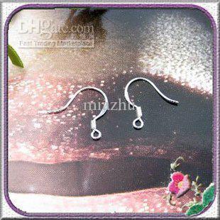 Wholesale - 100% 925 Sterling Silver Earring Fish Hook earrings Accessories DIY jewelry