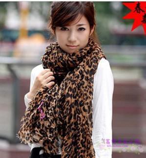 Women's Leopard print scarf Scarves shawl Neck scarf Fashion Scarf #1558