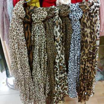 Sciarpa / # 1558 della sciarpa del collo dello scialle delle sciarpe della sciarpa della stampa della leopardo delle donne