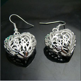 Wholesale sterling silver small pendants - Europe and America selling 925 silver earrings earrings small solid heart pendant 20 Pair   Lot