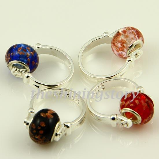 Glitter Chamilia Charms Finger Rings With Large Hole ...