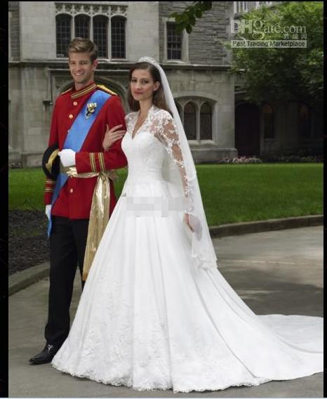 Discount 2014 Brand New Custom Made Kate's Wedding Dresses Long ...