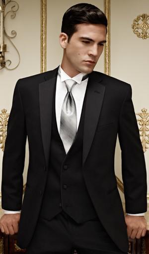 Smokings marié Meilleur homme costume mariage Groomsman / hommes Costumes Epoux veste + pantalon + veste + Tie F358