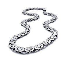 """Wholesale Highly Steel Chain - 8mm Highly Polished Stainless Steel Silver Necklace Chain,21.6"""""""