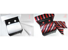Wholesale Cufflinks Box Sets - 2015 New Arrive sell mens tie sets wedding ties Tie cufflinks pocket towel gift box 4 pcs set-849C