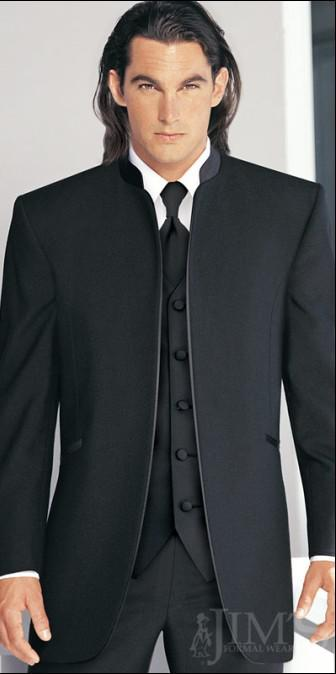 Bruidegom smoking beste man pak bruiloft groomsman / mannen pakken bruidegom jas + broek + tie + vest F420Q