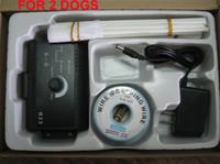 ingrosso sistema di addestramento del collare del cane-New Pet Fencing System PER 2 CANI Pet sistema di recinzione pet recinzione wireless 3 set / lotto 5 set / lotto