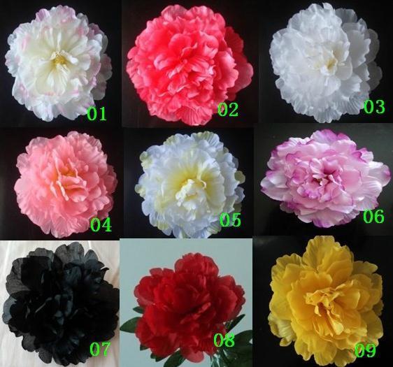 50 sztuk Sztuczna Jedwabna Symulacja Kwiat Róża Kamelia Piwonia Kwiaty 9 Kolory Ślubne Boże Narodzenie 16cm