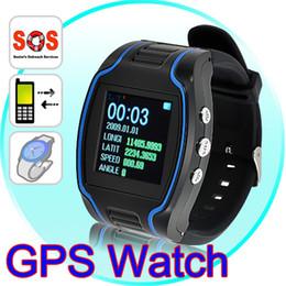 Reloj de pulsera de seguimiento online-GPS Reloj Rastreador GSM GPRS Personal GPS Sistema de Rastreo de la Muñeca Función SOS e_shop2008