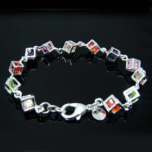 Commercio all'ingrosso - regalo di Natale di prezzi più bassi al minuto, trasporto libero, nuovo braccialetto di modo d'argento 925 yH220