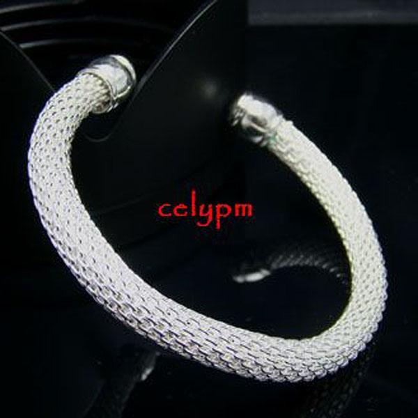 Vente en gros - Détail prix le plus bas prix de Noël, livraison gratuite, nouveau bracelet en argent 925 mode B040