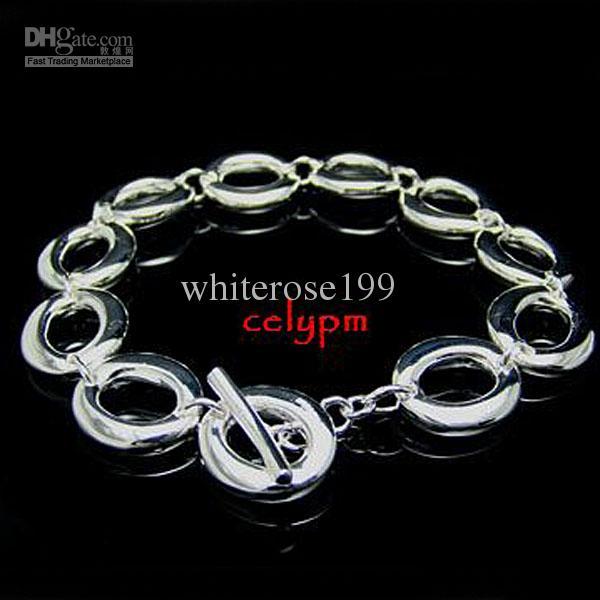 도매 - 소매 최저 가격 크리스마스 선물, 무료 배송, 새로운 925 실버 패션 팔찌 YBH147
