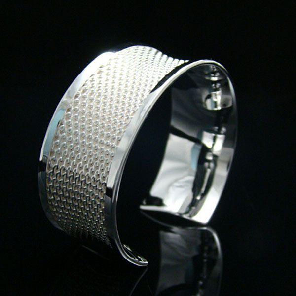 Partihandel - Retail Lägsta pris Julklapp, Gratis frakt, Ny 925 Silver Fashion Bracelet B048