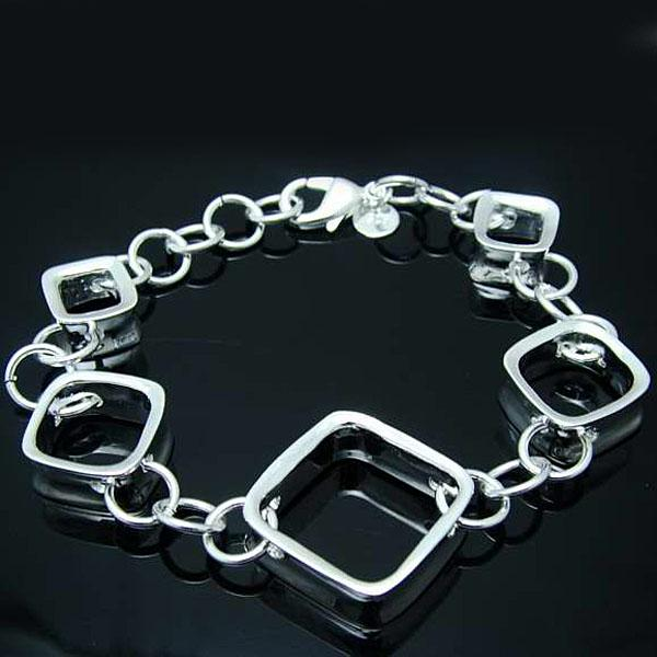 Groothandel - detailhandel laagste prijs kerstcadeau, gratis verzending, nieuwe 925 zilveren mode armband B32YH204